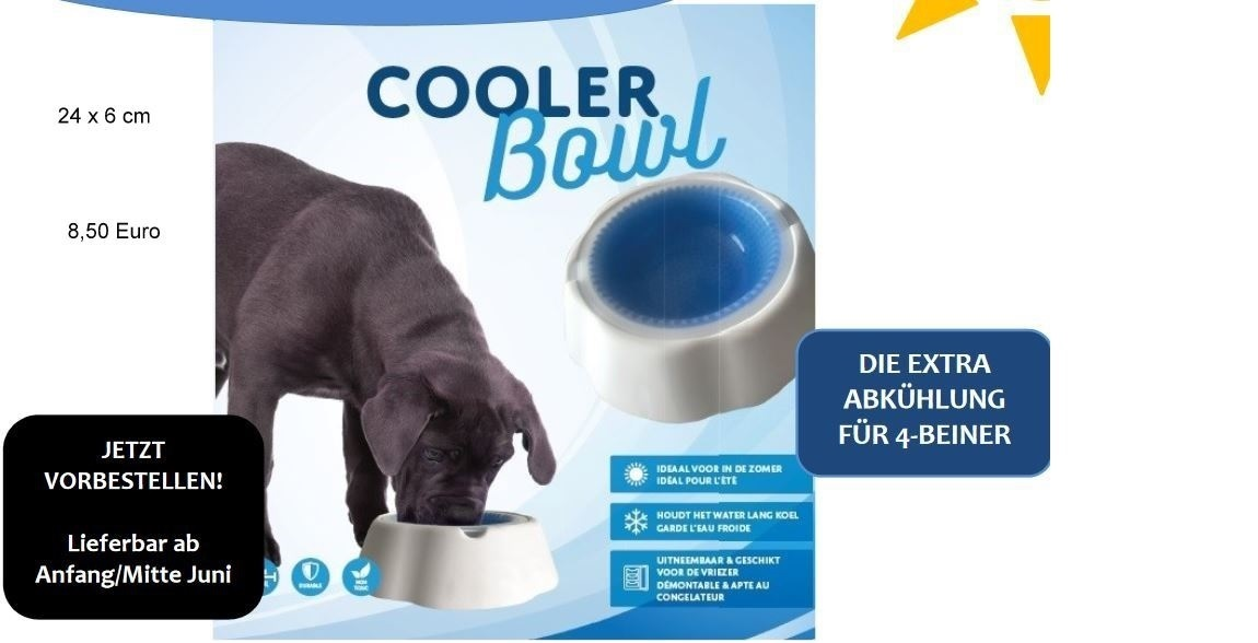 Kühlender Wasser- und/oder Futternapf